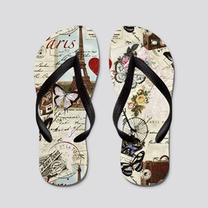 Paris Memories Flip Flops