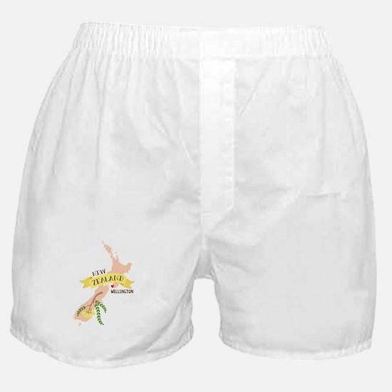 Wellington New Zealand Boxer Shorts