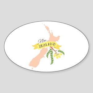 New Zealand Kowhai Sticker