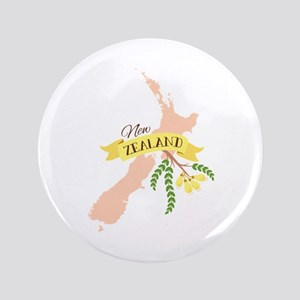 New Zealand Kowhai Button