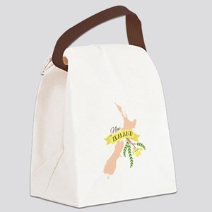 New Zealand Kowhai Canvas Lunch Bag