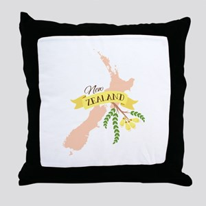 New Zealand Kowhai Throw Pillow