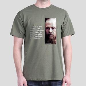 "Dostoevsky ""If the Devil"" Dark T-Shirt"