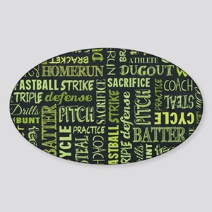 Fastpitch Softball Game Chalk Sticker (Oval 10 pk)