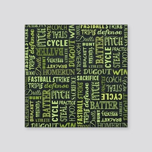 "Fastpitch Softball Game Cha Square Sticker 3"" x 3"""