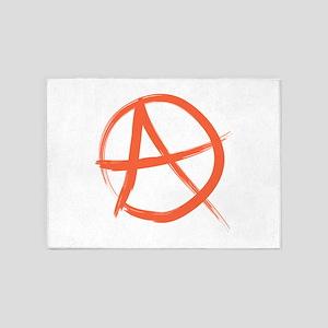 Anarchy Symbo 5'x7'Area Rug