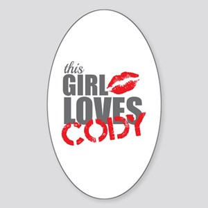 this girl loves cody Sticker (Oval)