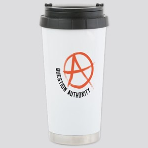 Question Authority Travel Mug