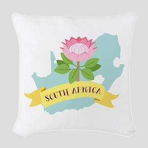 South Africa Woven Throw Pillow