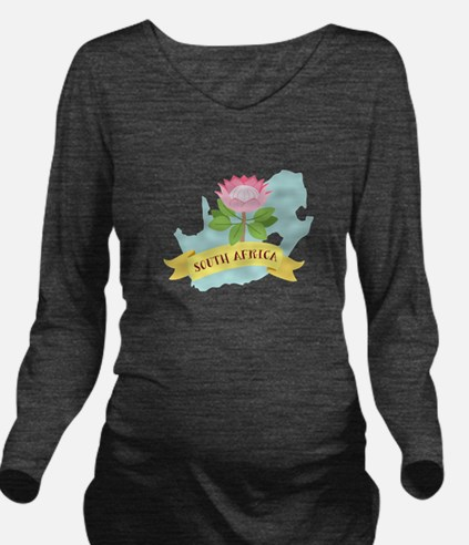 South Africa Long Sleeve Maternity T-Shirt