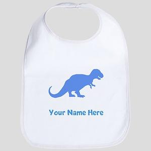 Tyrannosaurus Rex Silhouette (Blue) Bib