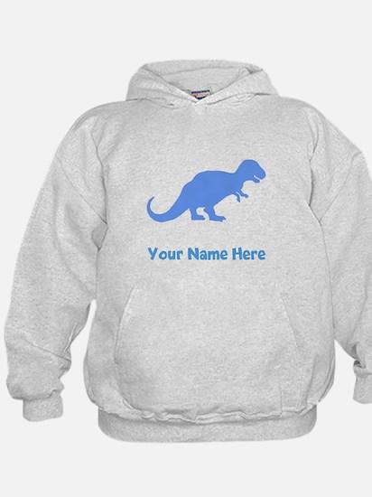 Tyrannosaurus Rex Silhouette (Blue) Hoodie