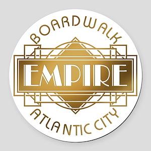 Boardwalk Empire Art Deco Round Car Magnet