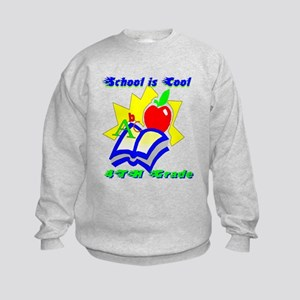 4th Grade School is Cool Kids Sweatshirt