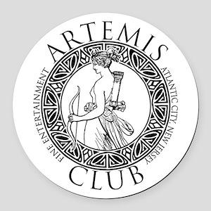 Artemis Club Boardwalk Empire Round Car Magnet