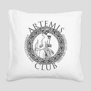 Artemis Club Boardwalk Empire Square Canvas Pillow