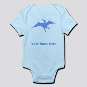 Pterodactylus Silhouette (Blue) Body Suit