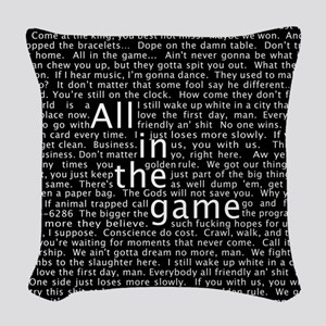 The Wire Epigraph Pattern Woven Throw Pillow