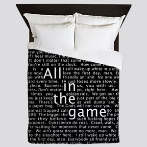 The Wire Epigraph Pattern Queen Duvet