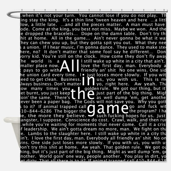 The Wire Epigraph Pattern Shower Curtain