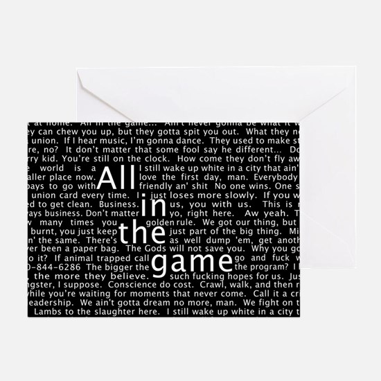 The Wire Epigraph Pattern Greeting Cards