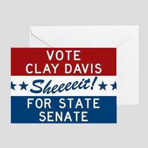 Vote Clay Davis The Wire Greeting Cards