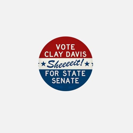 Vote Clay Davis The Wire Mini Button