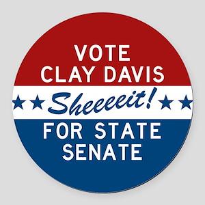 Vote Clay Davis The Wire Round Car Magnet