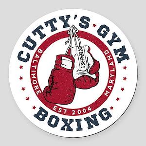 Cutty's Gym The Wire Round Car Magnet