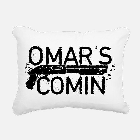 Omar's Comin The Wire Rectangular Canvas Pillow
