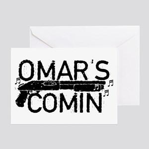 Omar's Comin The Wire Greeting Cards