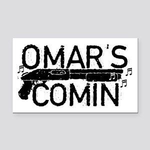 Omar's Comin The Wire Rectangle Car Magnet