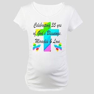 CHRISTIAN 35 YR OLD Maternity T-Shirt