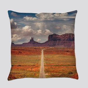 Road Trough Desert Everyday Pillow