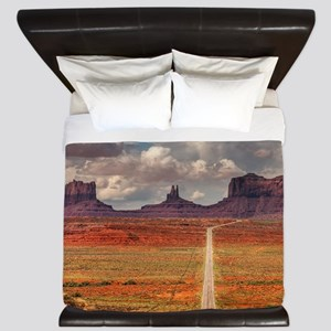 Road Trough Desert King Duvet