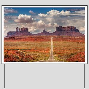 Road Trough Desert Yard Sign