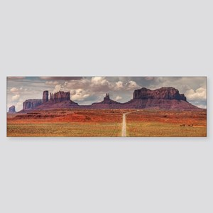 Road Trough Desert Bumper Sticker