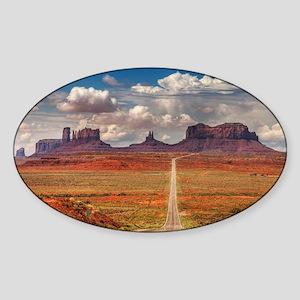 Road Trough Desert Sticker