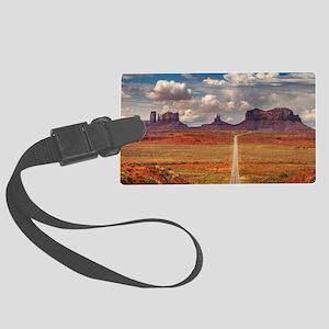 Road Trough Desert Luggage Tag