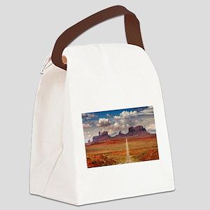 Road Trough Desert Canvas Lunch Bag