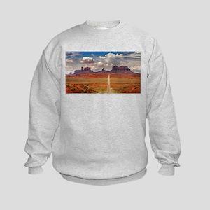 Road Trough Desert Sweatshirt