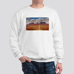 Road Trough Desert Sweatshirt
