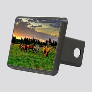 Horses Grazing Hitch Cover