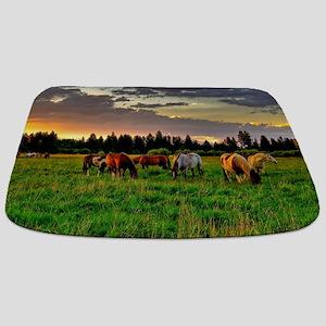 Horses Grazing Bathmat