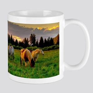 Horses Grazing Mugs