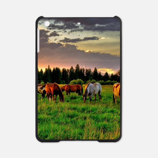 Horses Grazing iPad Mini Case