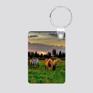 Horses Grazing Keychains