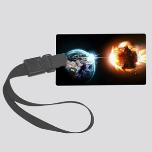 Earth And Asteroid Luggage Tag