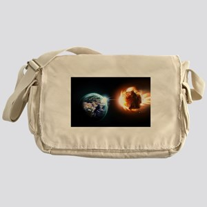 Earth And Asteroid Messenger Bag