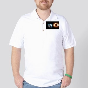 Earth And Asteroid Golf Shirt